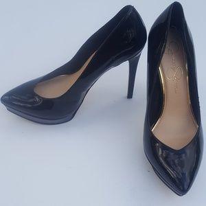 "Jessica Simpson Black Stilettos (7.5)Shinny 5""Heel"